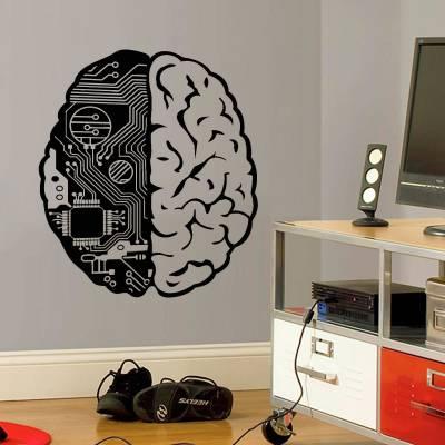 Adesivo de Parede Diversos Nerd Cérebro Geek