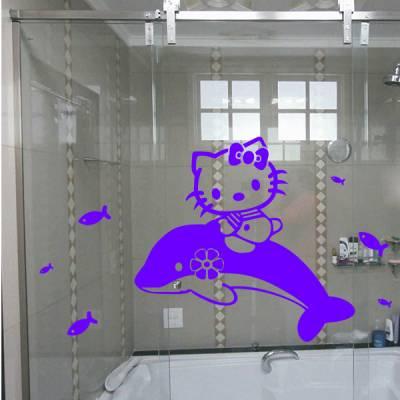 Adesivo para Box de Banheiro da Hello Kitty