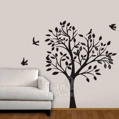 Adesivo de Parede Árvore e Pássaros 03