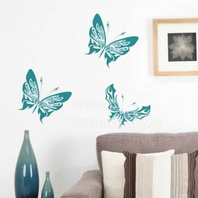Adesivo de parede borboletas tribais