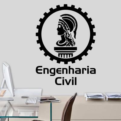Adesivo Decorativo Profissão Engenharia Civil