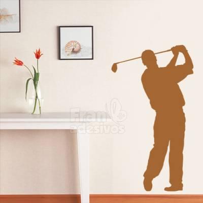 Adesivo de parede - Golfista