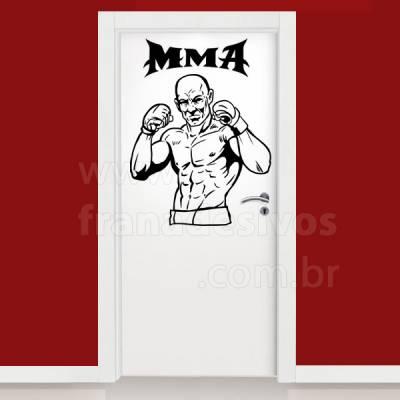 Adesivo decorativo de parede lutador de MMA