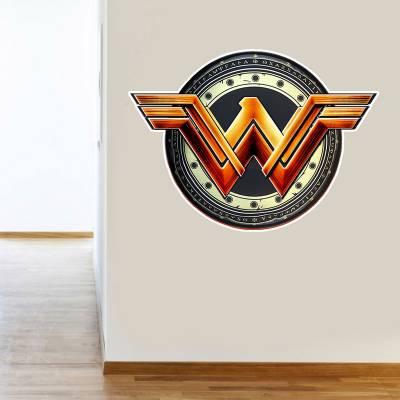 Adesivo De Parede Logo Mulher Maravilha