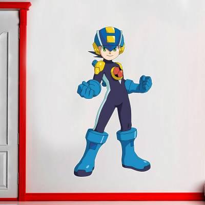 Adesivo De Parede Infantil Games Mega Man X