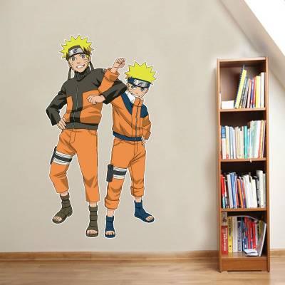 Adesivo De Parede Animes Naruto Criança E Adulto Juntos