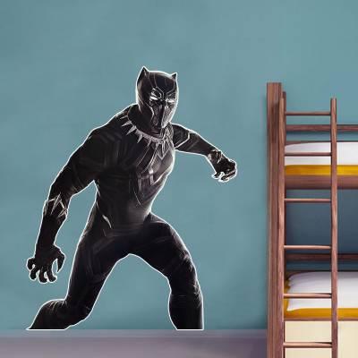 Adesivo De Parede Infantil Heróis Pantera Negra