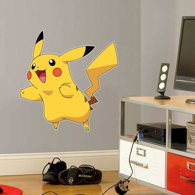 Adesivo De Parede Pokemon Animes Pikachu