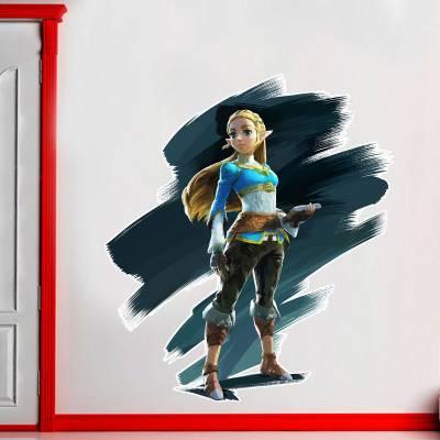 Adesivo de Parede Games Princesa Zelda