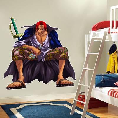 Adesivo De Parede Animes Shanks One Piece