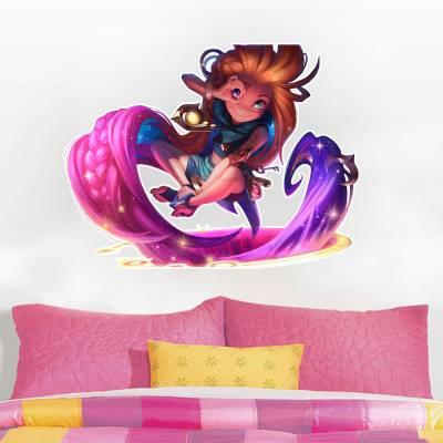 Adesivo de Parede Infantil Zoey League Of Legends