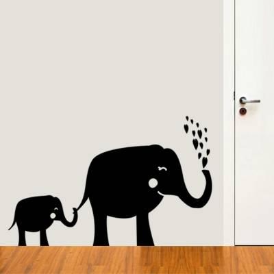 Adesivo de Parede Elefante Mãe E Filho