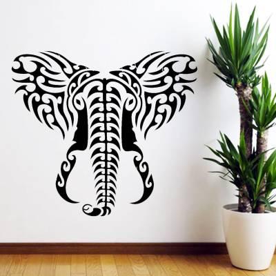 Adesivo De Parede Animais Elefante Tribal