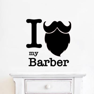 Adesivo De Parede Eu Amo Minha Barba
