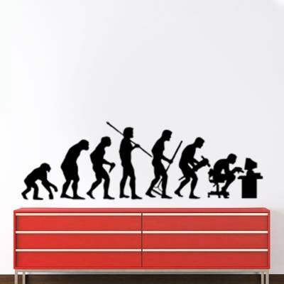 Adesivo De Parede Divertidos Evolução Do Homem