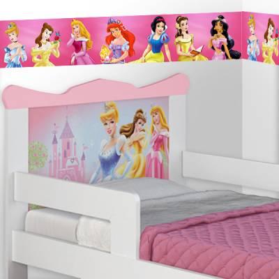 Adesivo decorativo faixa das princesas