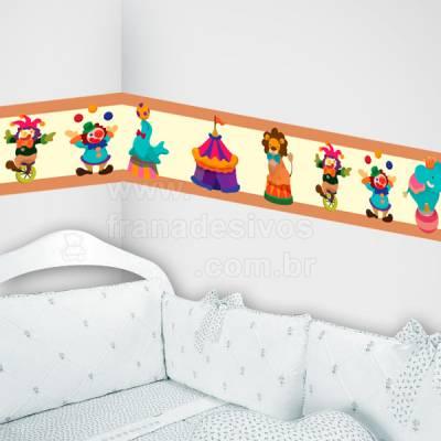 Faixa Decorativa para quarto infantil Circo - Marrom e Bege