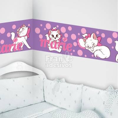 Faixa Decorativa para quarto infantil Gatinha Marie - Lilas