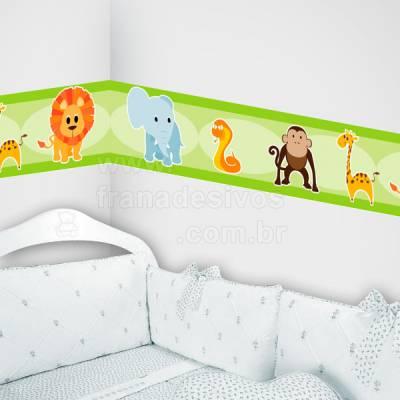 Faixa Decorativa para quarto infantil Safári - Verde