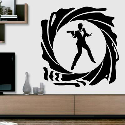 Adesivo De Parede Filmes James Bond Retrô