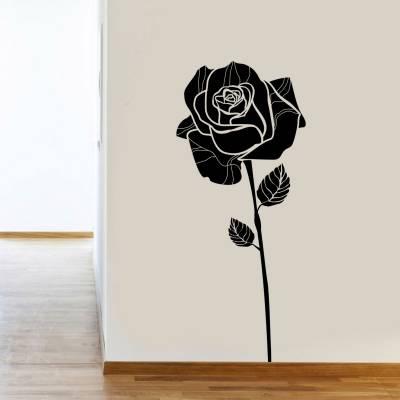 Adesivo De Parede Decorativo Floral Rosa