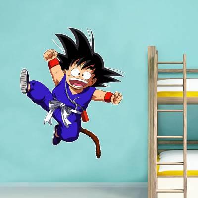 Adesivo De Parede Animes Goku Criança Pulando