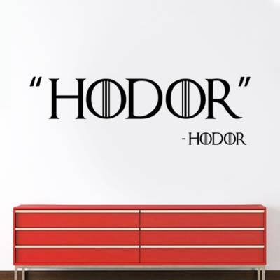 Adesivo De Parede Séries Hodor Game Of Thrones