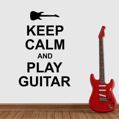 Adesivo De Parede Keep Calm And Play Guitar