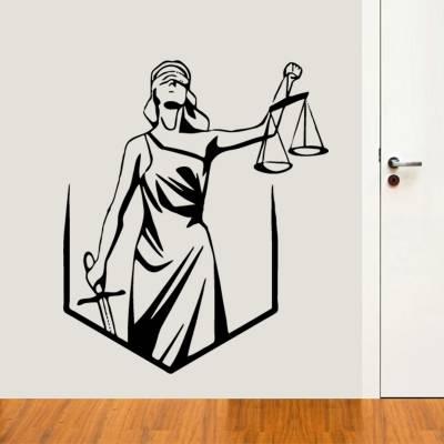 Adesivo de Parede Profissões Logo Justiça Direito