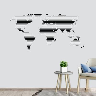 Adesivo De Parede Mapa Mundi Listras