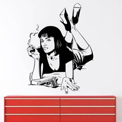 Adesivo De Parede Filmes Mia Pulp Fiction