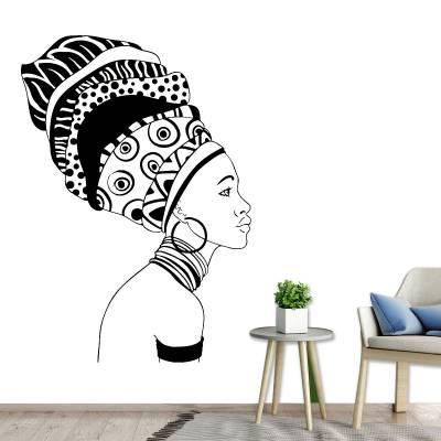 Adesivo De Parede Mulheres Mulher Africana
