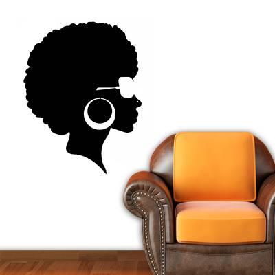 Adesivo De Parede Mulher Com Black Power
