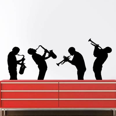 Adesivo de Parede Musical Músicos Saxofone