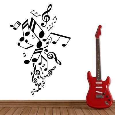 Adesivo de Parede Musicos Notas Músicais