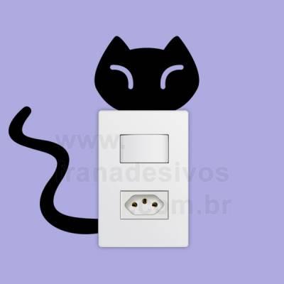 Adesivo de parede - Interruptor - Gato
