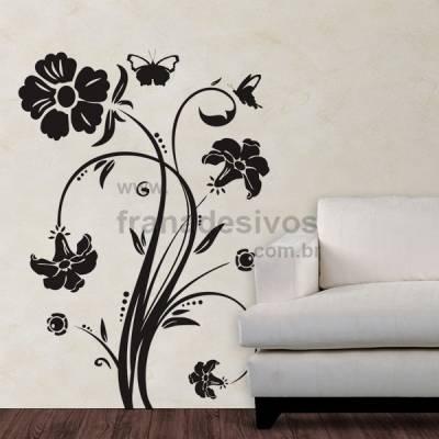 Adesivo Decorativo de Parede Floral Modelo 01