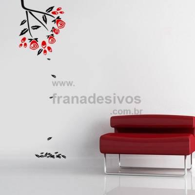 Adesivo Decorativo de Parede Floral Modelo 17