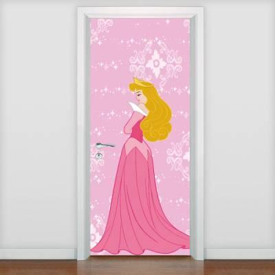 Adesivo de porta Infantil Princesa Aurora