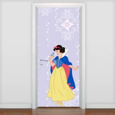 Adesivo de porta Infantil Princesa Branca de Neve