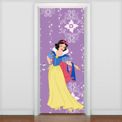 Adesivo de porta Infantil Princesa Branca de Neve 2