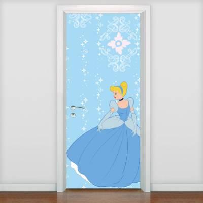 Adesivo de porta Infantil Princesa Cinderela