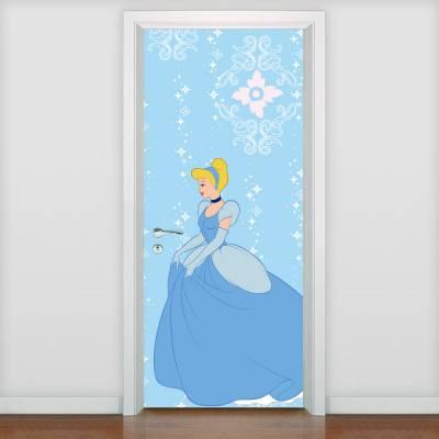 Adesivo de porta Infantil Princesa Cinderela 2