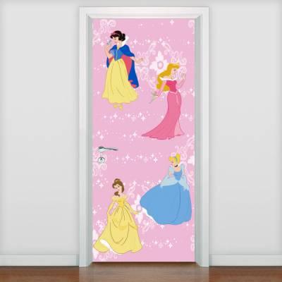 Adesivo de porta Infantil Princesas