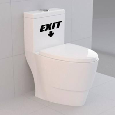 Adesivo para Vaso Acoplado Engraçado Exit