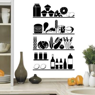 Adesivo de Parede Diversos Itens De cozinha