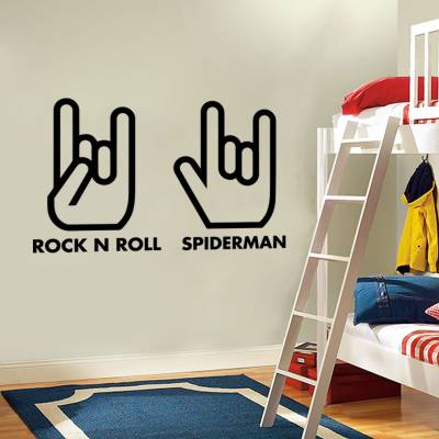 Adesivo de Parede Divertidos Rock n Roll Spider Man