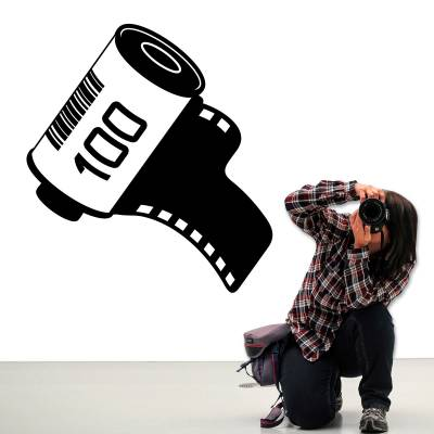 Adesivo De Parede Cinema Clipe De Camera