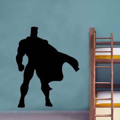 Adesivo de Parede Infantil Silhueta Super-Herói
