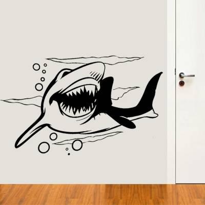 Adesivo de Parede Animais Silhueta Tubarão
